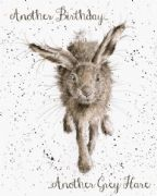 Wrendale Little Grey Hare Birthday Card